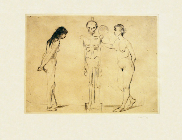 EDVARD MUNCH (1863-1944) The Women and the Skeleton