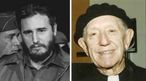 Fidel Castro y el sacerdote jesuita Armando Llorente.